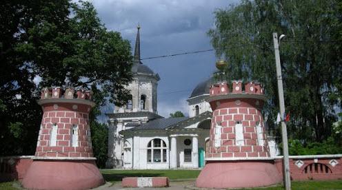 Усадьба Гончаровых, здесь жила теща Пушкина, трасса Р107