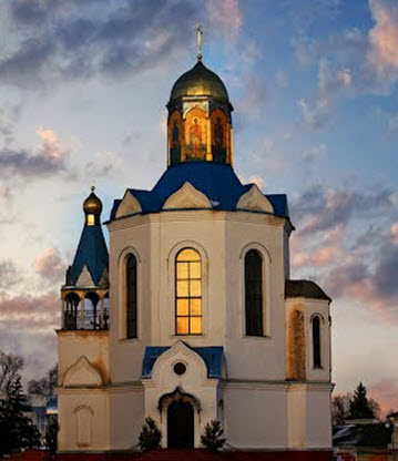 Церковь иконы Неопалимая Купина, Дядьково, трасса Р68