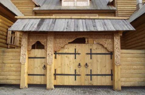 Резные ворота, Городец, трасса Р160