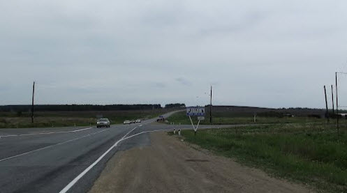 Трасса р354, поворот на Катайск
