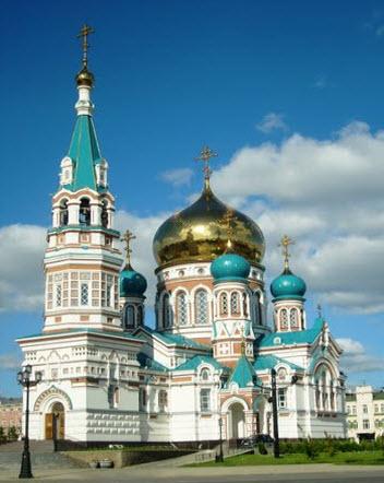 Успенский собор, Омск, трасса Р402