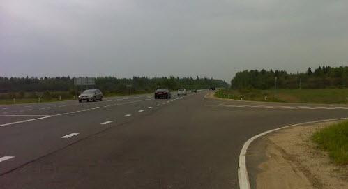 трасса р112 возле Юдино