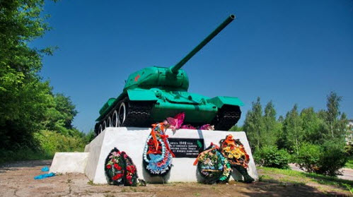 Танк Т-34, трасса Р134, Зубцов