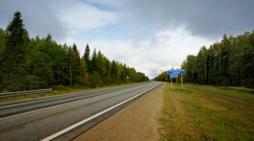 Трасса М8, вологодская область