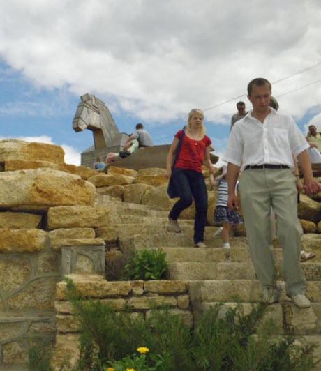 каменные ступени, кудыкина гора