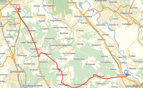 схема объезда пробки на трассе М5 Подмосковье