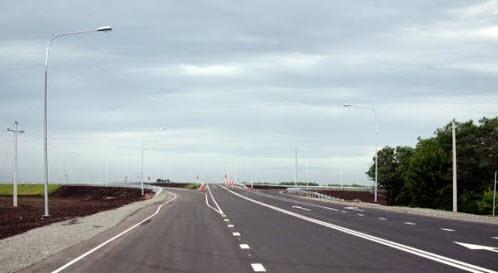 трасса р271, мост через трассу М4 Дон