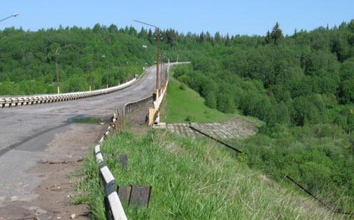 Мстинский мост, трасса Р53