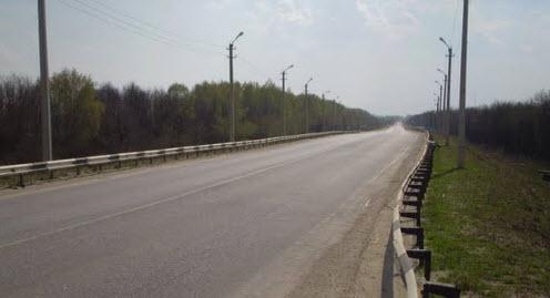 трасса Р124, рядом Шацк