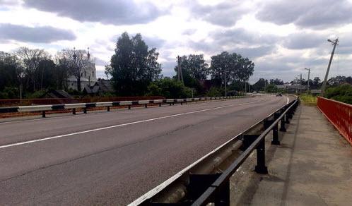 трасса р-110, мост через реку воря