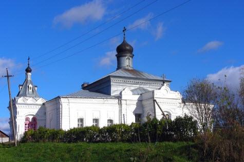 Дмитриевская церковь, Сима, трасса р74