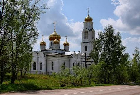 Никольский храм, Середниково, трасса р105