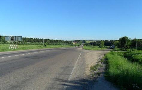 Трасса Р104, возле Маньково