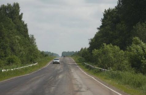 Трасса Р104, участок возле Калязина