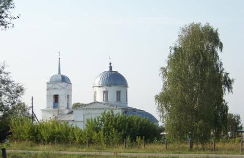 Церковь Спаса Преображения, кудеиха, трасса Р231