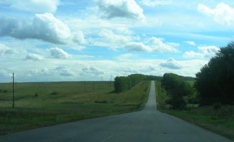 дорога р74 небольшие холмы