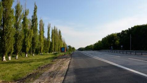 трасса М2 перед Нехотеевкой