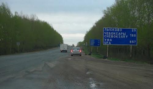 трасса М7, маршрут Нижний Новгород - Казань