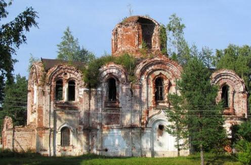 церковь Иверской иконы, Лыкошино, трасса Р8