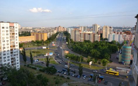 вид из квартиры в Оболони, поездка в Киев