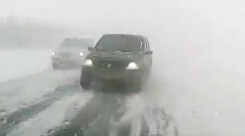 авария на трассе Уфа, зимняя дорога
