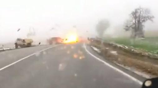 авария на трассе краснодар взрыв машины