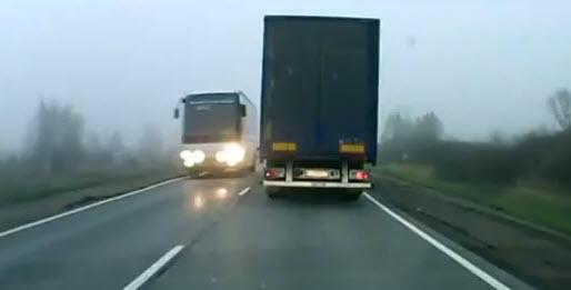 автоликбез две фуры на дороге, сигналы дальнобойщиков