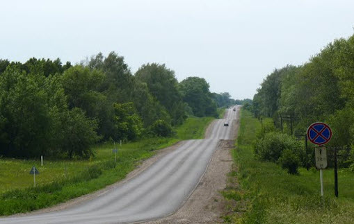 трасса р148 маршрут Щекино - Одоев
