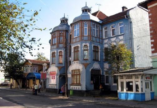 улица в зеленоградске, трасса а191