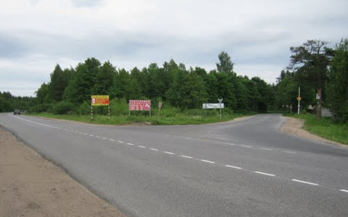 трасса а128 возле с. Проба