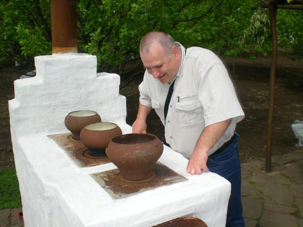 печка на улице амбар, казачье подворье хутор кружилинский