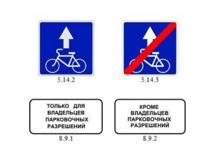 Дорожные знаки полоса для велосипедистов