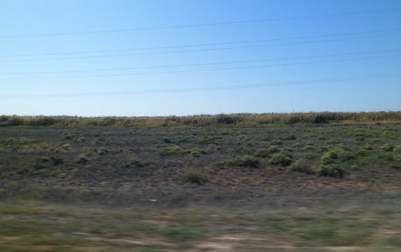 вид вдоль дороги на Астрахань