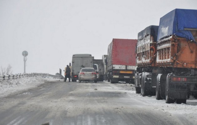 пробка на дороге орск - оренбург