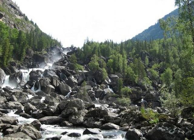 водопад учар горный алтай