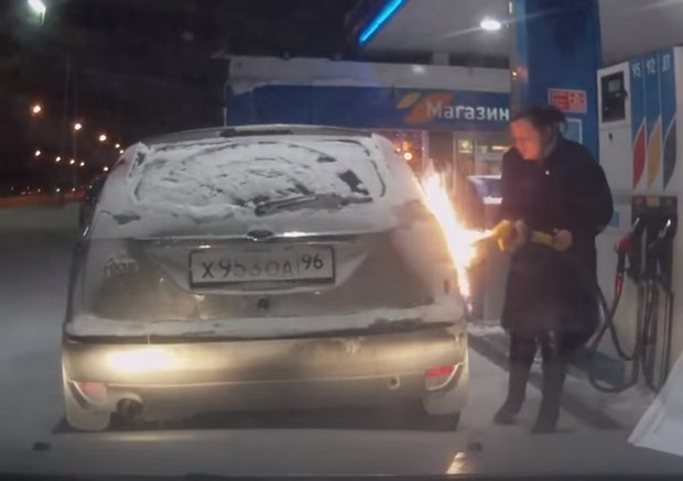 пожар на азс