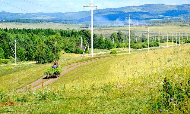 башкирия сельская дорога