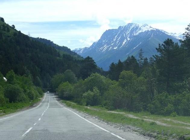 горная дорога на чегет