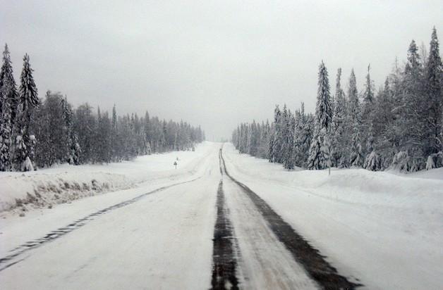 дорога пермь - екатеринбург зимняя