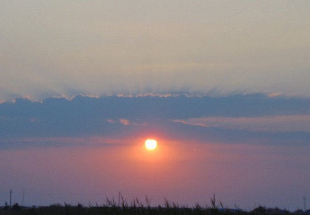 поездка на азовское море закат