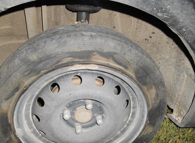 лопнувшее колесо