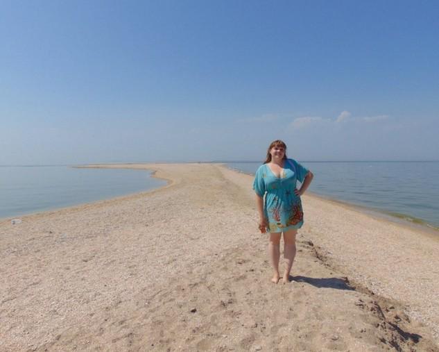песчаная коса на азовском море