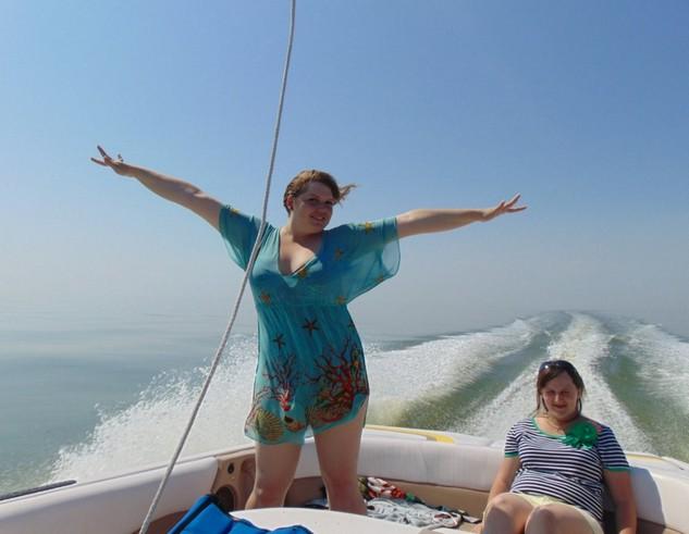 на катере по азовскому морю