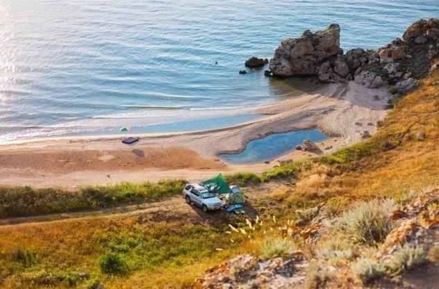 стоянка на берегу
