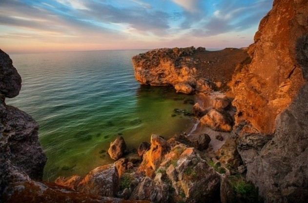 закат на море в крыму
