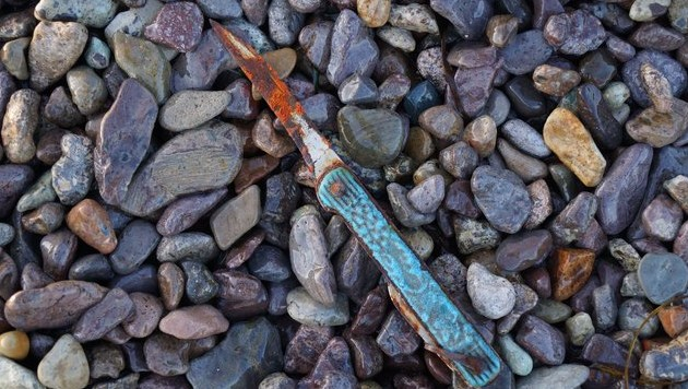 морская находка нож