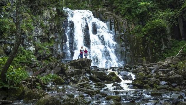 водопад в приморье