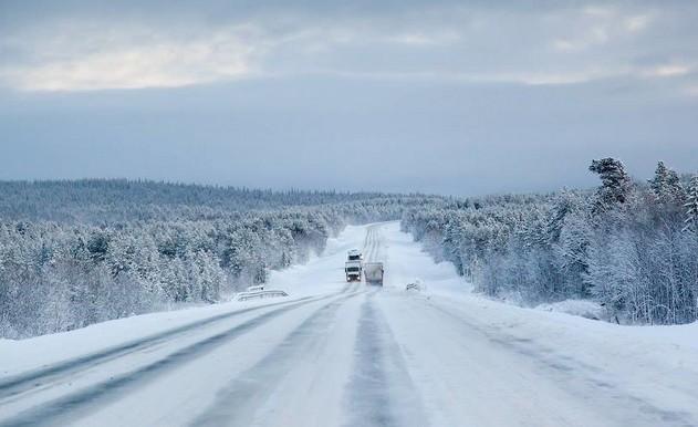 зимняя дорога м18
