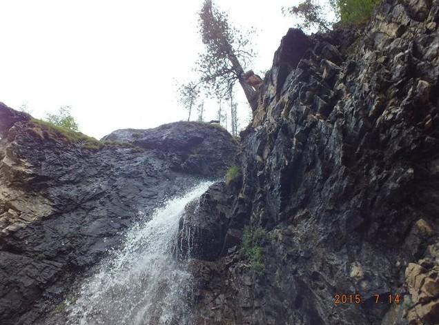 водопад возле белого иркута
