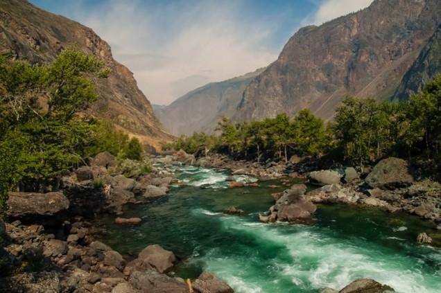 Река Чулышман алтай